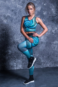 SPIRAL FOCUS HW LEGGINGS High Waist Leggings >> BADINKA