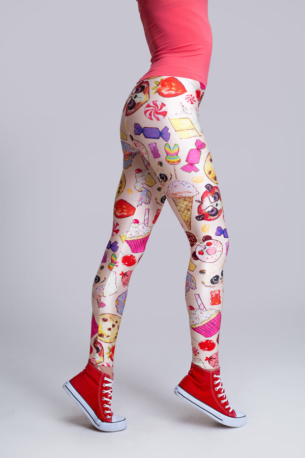 Candy Leggings Beige (close look)