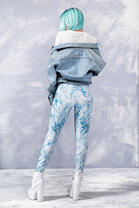 BLUE FURR LEGGINGS Leggings >> BADINKA