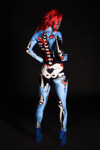 Blue Pop Art Costume Bodysuit >> BADINKA