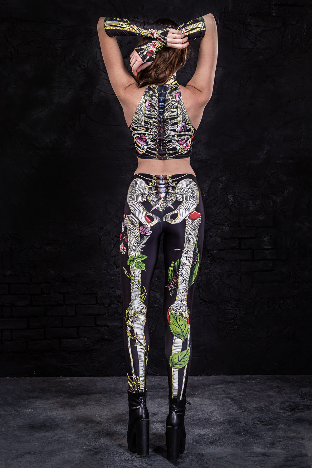 Earth Skeleton Leggings Leggings >> BADINKA
