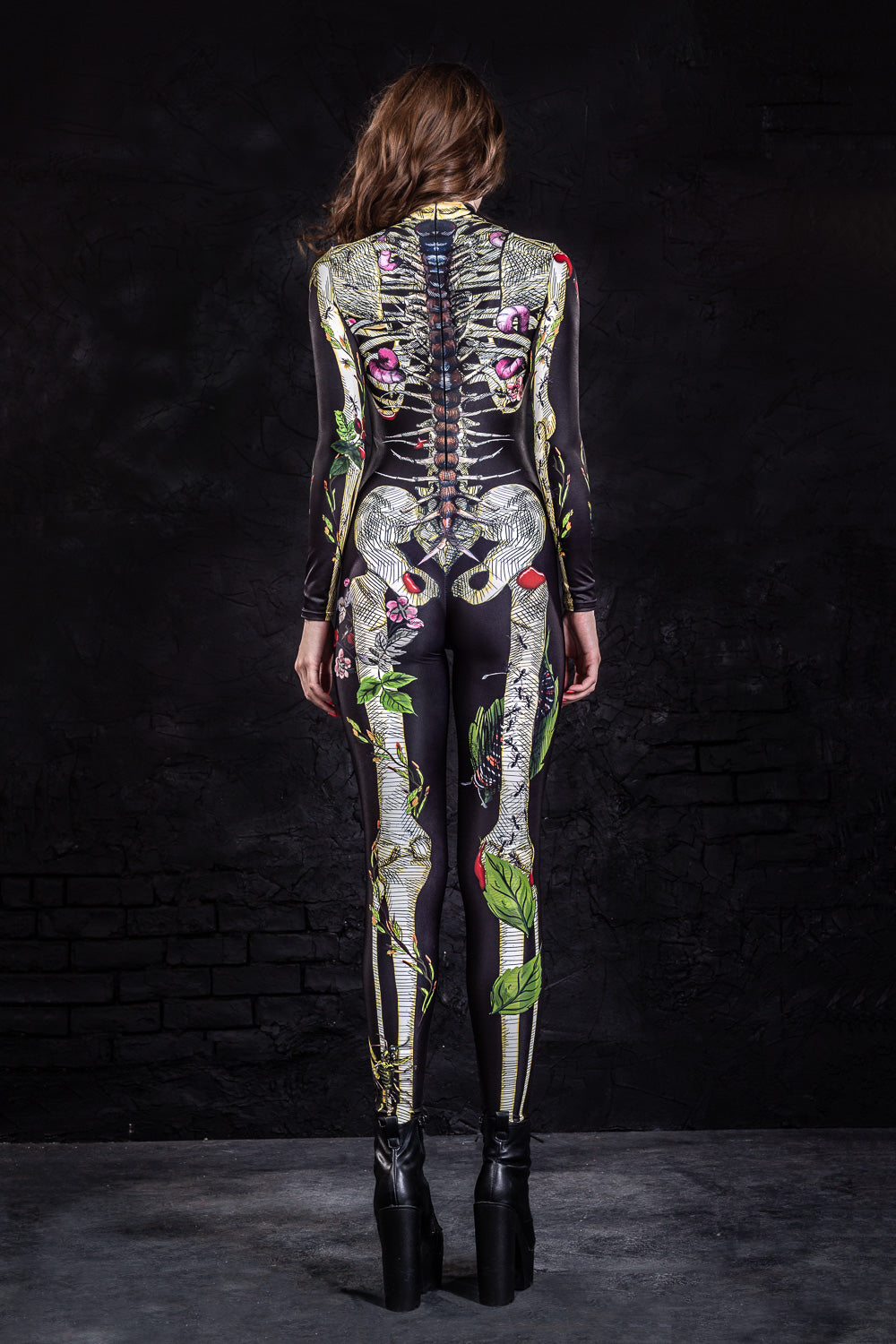 Earth Skeleton Costume Bodysuit >> BADINKA