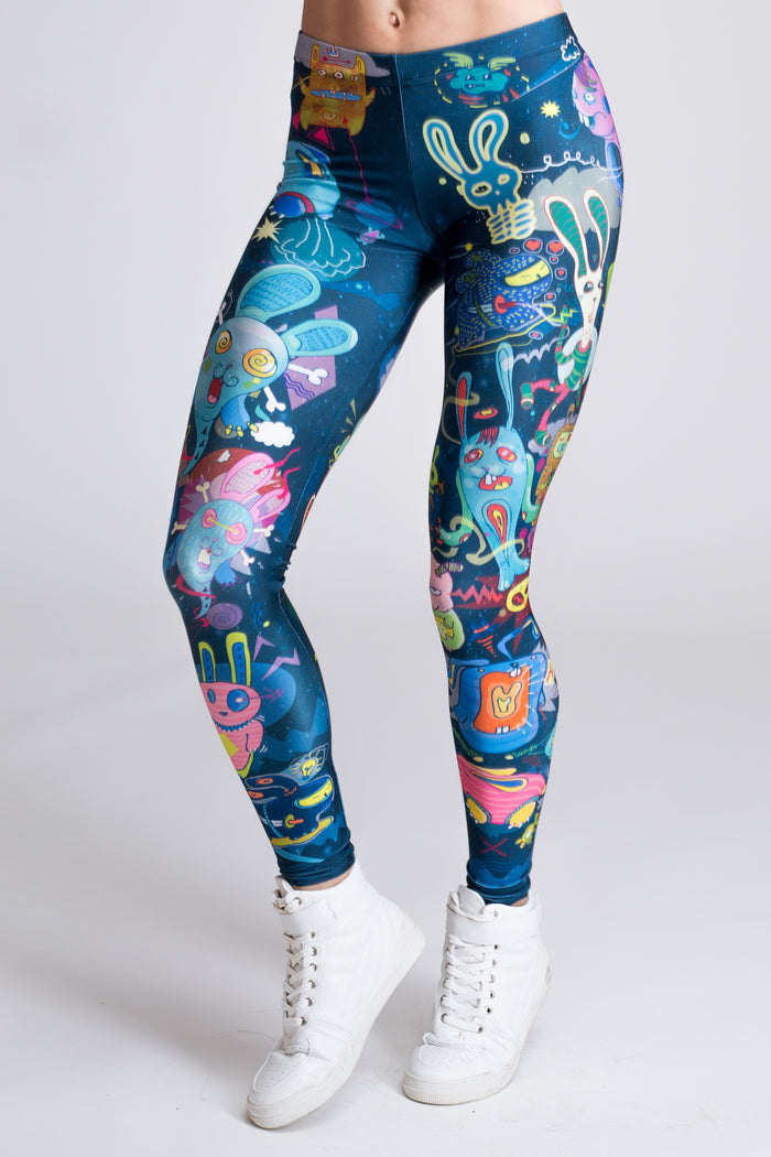 Rabbidelic Leggings (close look)