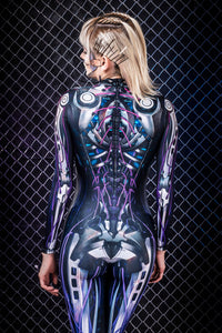 Ghost Mecha Costume Bodysuit >> BADINKA