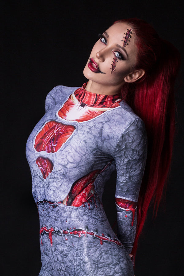 Fossilized Zombie Costume Bodysuit >> BADINKA