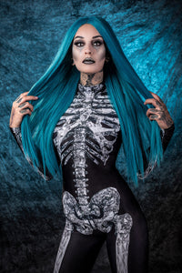 Diamond Skeleton Costume Bodysuit >> BADINKA