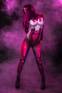 Red Spider Babe Costume Bodysuit >> BADINKA