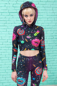 SPACE MUNCHIEZ HOODED TOP TOP >> BADINKA