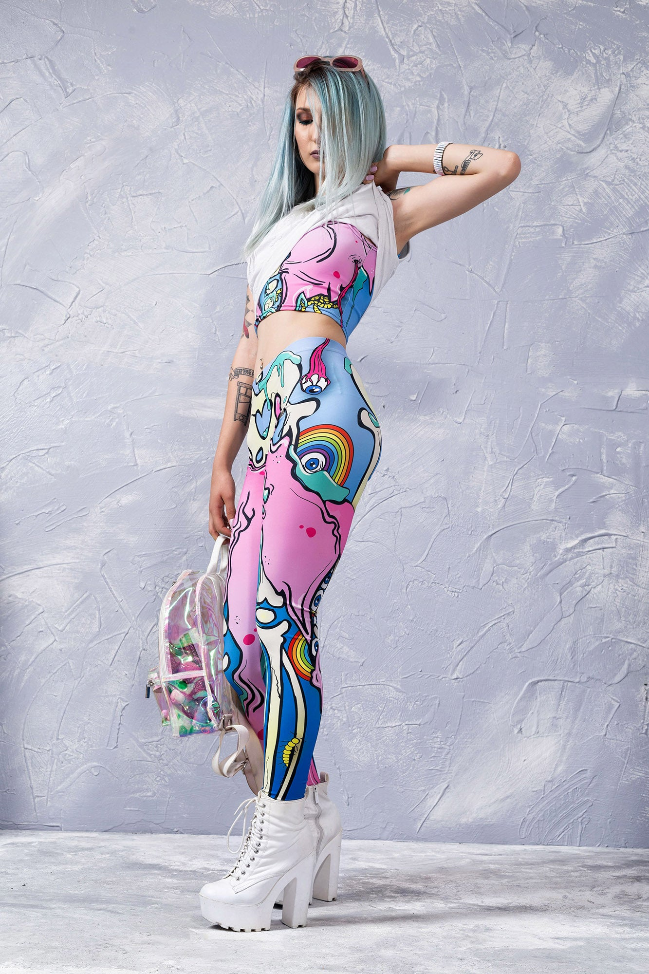 Kawaii Pop Art Leggings Leggings >> BADINKA