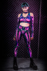 Cyberware Android Magenta Leggings Leggings >> BADINKA