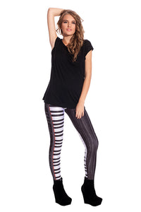 Piano Leggings Leggings >> BADINKA