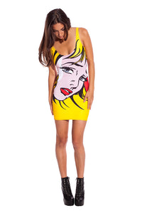 Pop Art Dress Dresses >> BADINKA