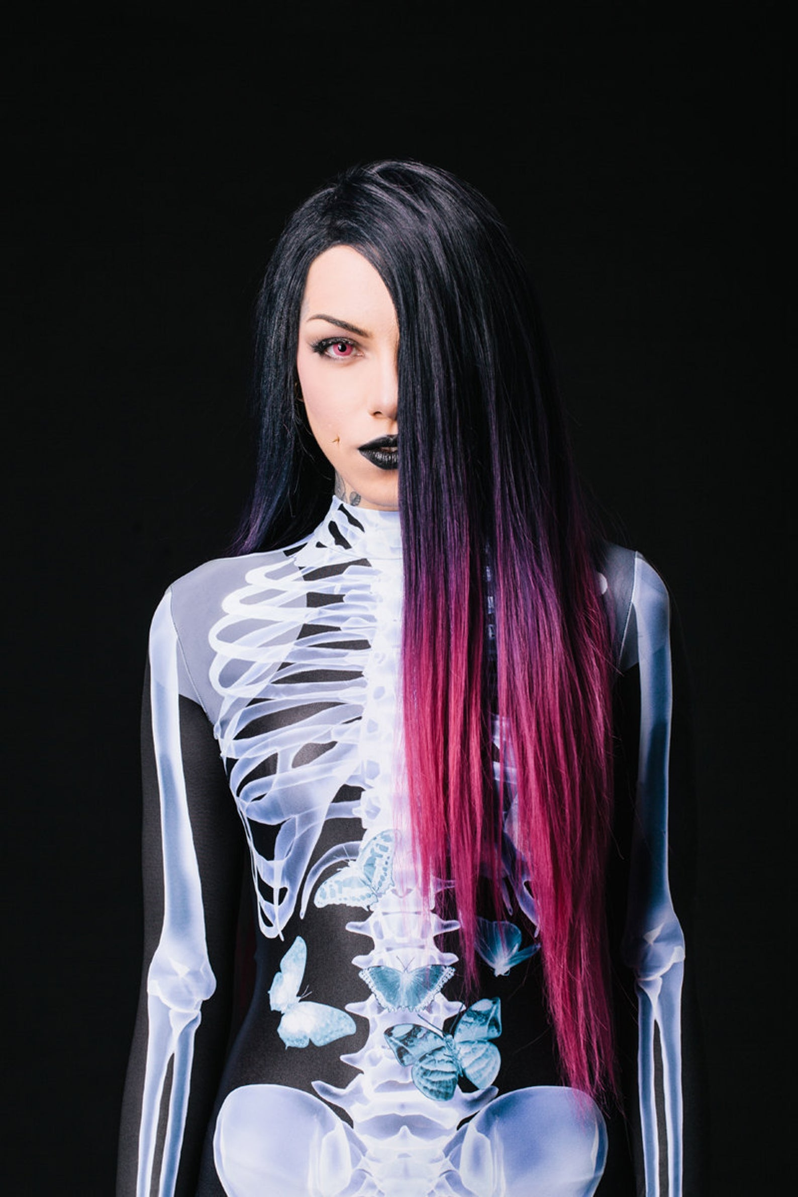 X-Ray Skeleton Costume Bodysuit >> BADINKA