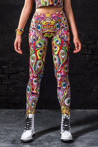 Trippy Eyez Leggings Leggings >> BADINKA