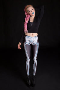 X-Ray Skeleton Leggings Leggings >> BADINKA