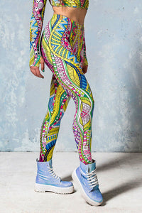Aqua Knot Leggings Leggings >> BADINKA