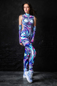 Frenzy Liquid Catsuit Bodysuit >> BADINKA