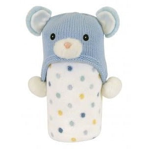 Stephan Baby- Hat and Blanket Set- Bear