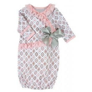 Stephan Baby- Diamond Flower Gown- 0-3months