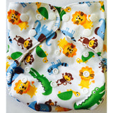 Lil' Bamboo Diaper Cover - Jungle w/ Crocodiles