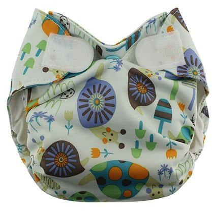 Newborn Simplex All In One Diaper Hook/Loop- Snails