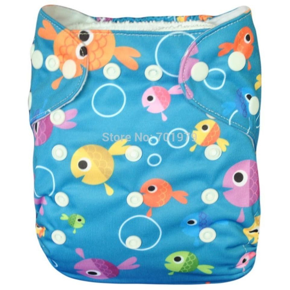 GUC Alva OS Pocket Diaper- Fish Bubbles