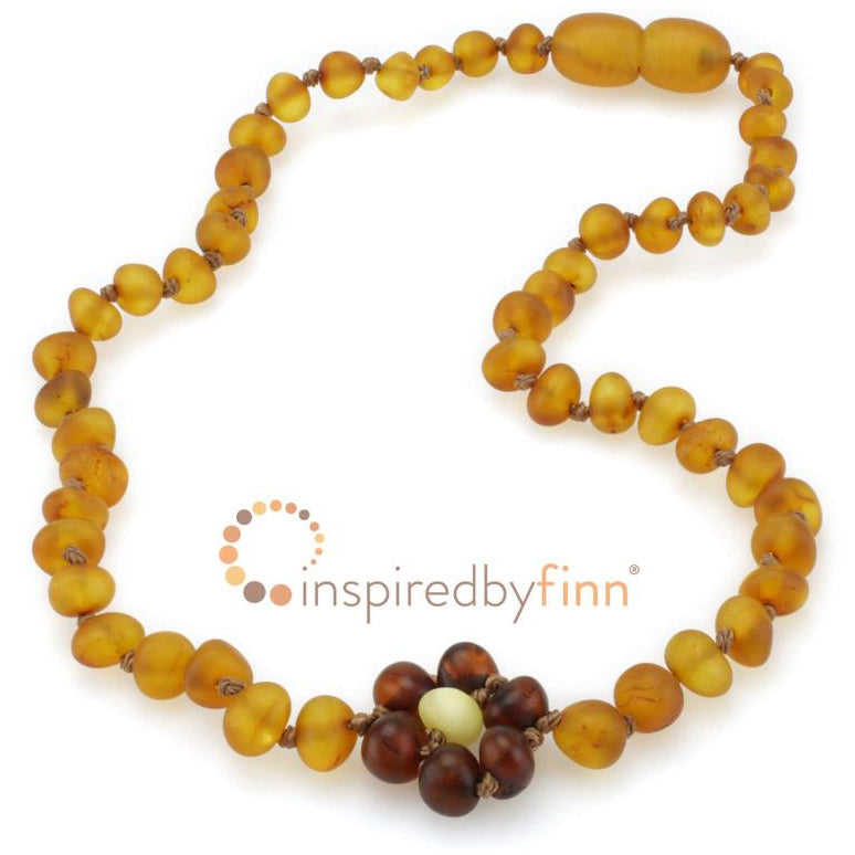 "Inspired by Finn Baltic Amber (Unpolished) 11.5-12.5"" Necklace"