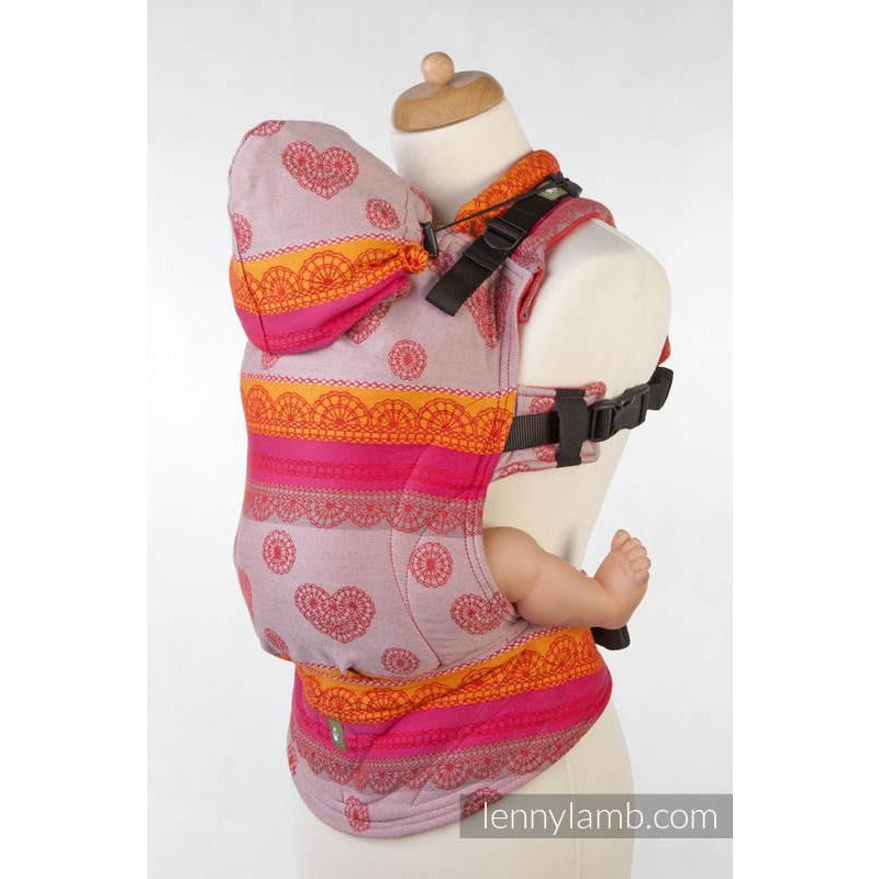 Lenny Lamb Wrap Conversion Ergonomic Carrier, Cherry Lace