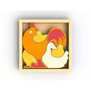 Begin Again Toys Chicken Family Puzzle