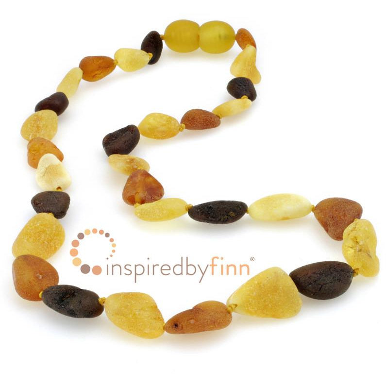 "Inspired by Finn Baltic Amber (Unpolished) 13-14"" Necklaces"