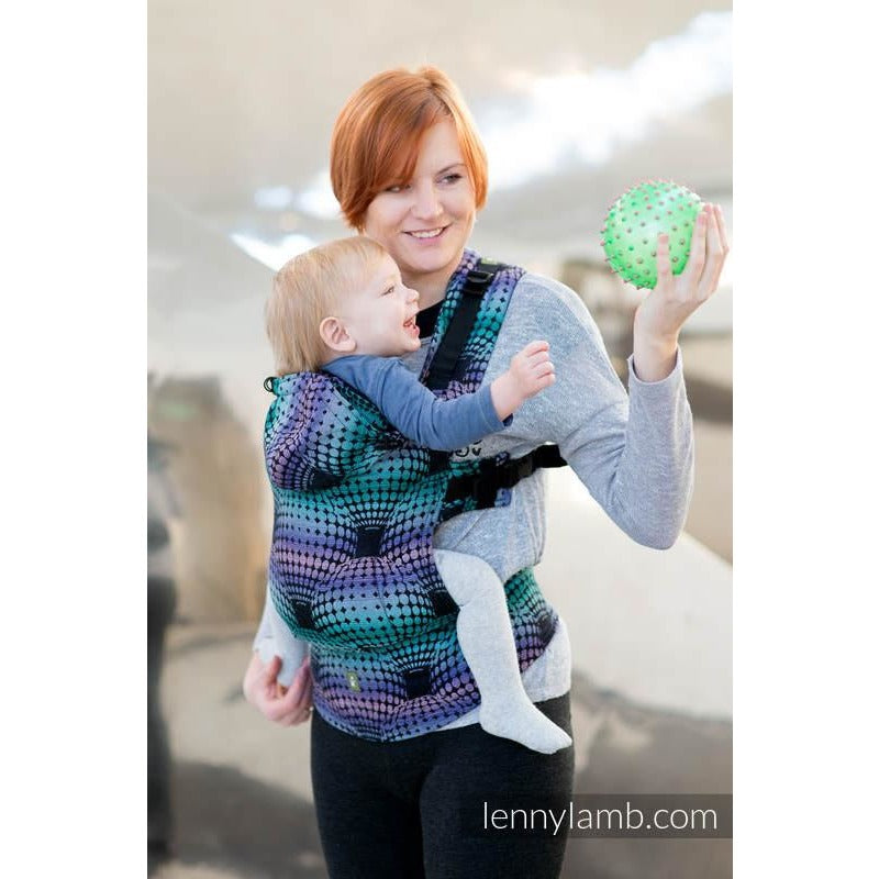 Lenny Lamb Wrap Conversion Ergonomic Carrier, Disco Balls
