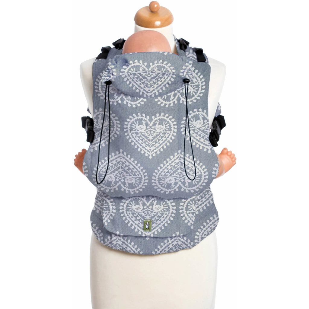LennyUp Baby Carrier - Folk Hearts (100% Cotton)