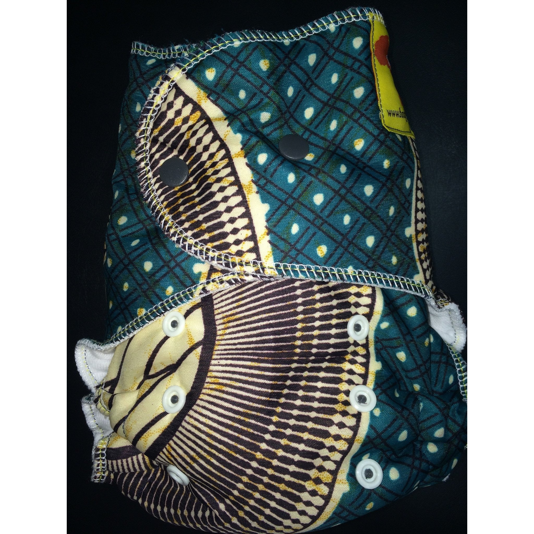 Baaby Fitted Diaper - African Print 3