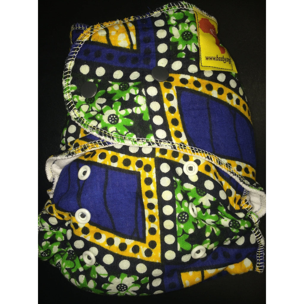 Baaby Fitted Diaper - African Print 1