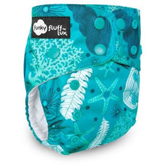 Funky Fluff LUX Wicking Jersey Diaper System - Maritime