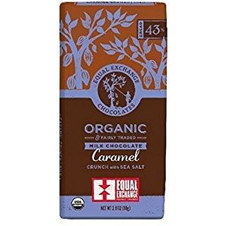 Organic Milk Chocolate Caramel Crunch with Sea Salt (43% Cacao)