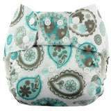 Blueberry One Size Bamboo Pocket Diapers - Paisley