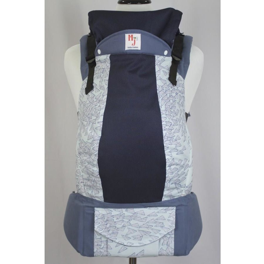 MJ Baby Carrier - Paper Planes on Fresh Mesh