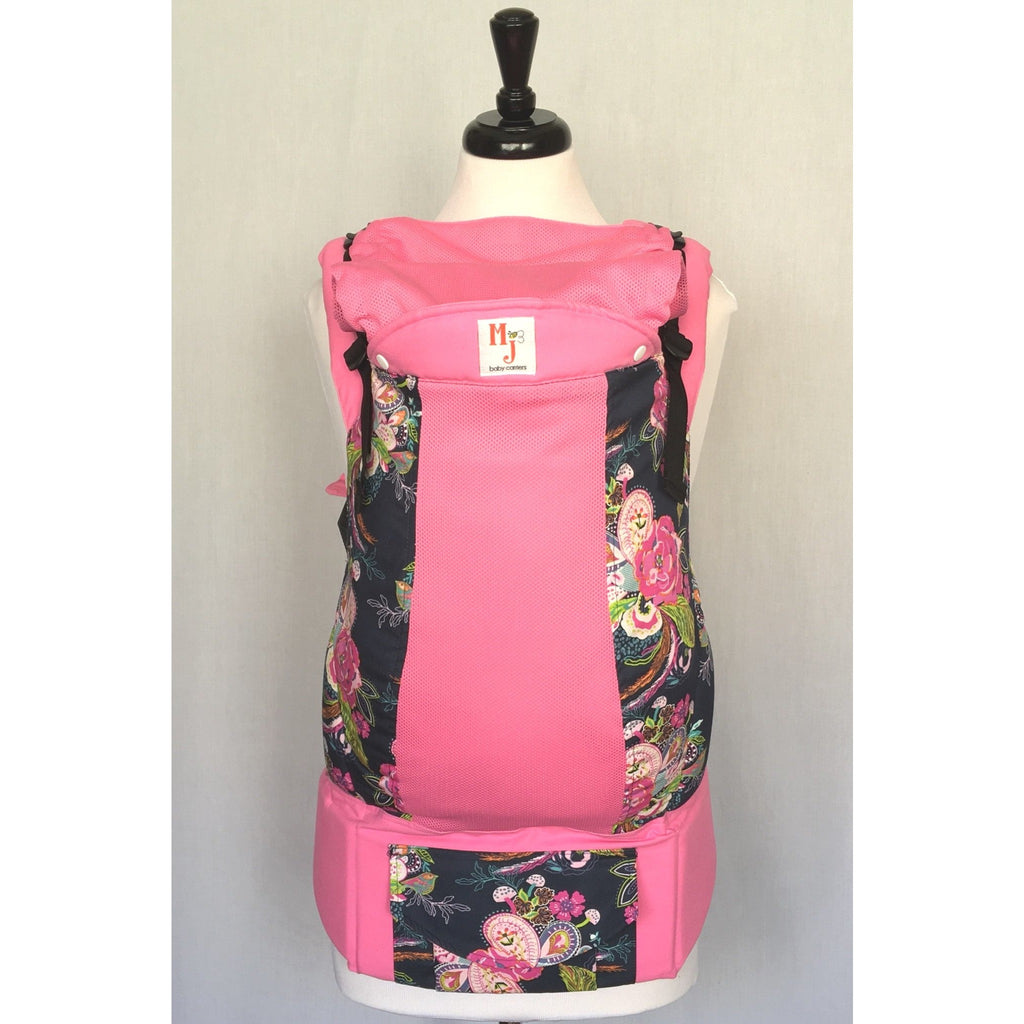 MJ Baby Carrier - Paisley Flowers on Fresh Mesh