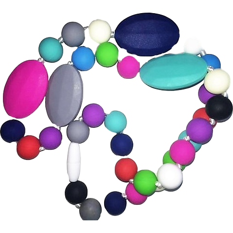 Silicone Teething Necklaces - Multi 1