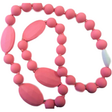 Silicone Teething Necklaces - Light Pink