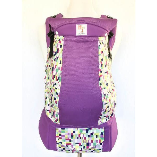MJ Baby Carrier - Squared Up (Purple) on Fresh Mesh