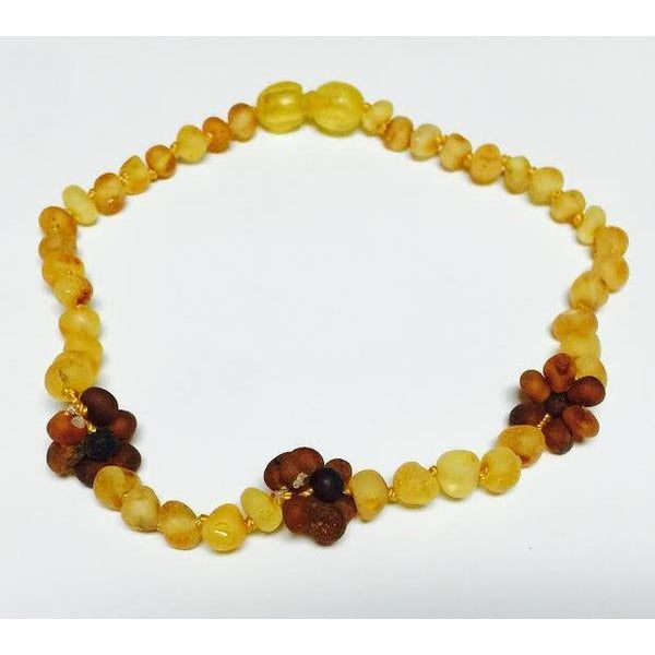 "The Amber Monkey 10""-11"" SCREW Clasp Amber Necklace"