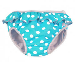Imse Vimse Swim Diaper w/ Frill - Turquoise Dots