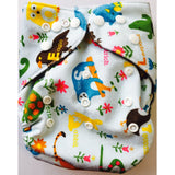 Lil' Bamboo Charcoal Bamboo Pocket Diaper - Minky Alphabet Jungle