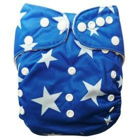 GUC Alva OS Pocket Diaper- Blue Stars