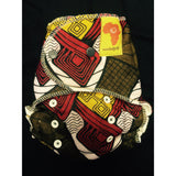 Baaby Fitted Diaper - Brown/Red/Yellow