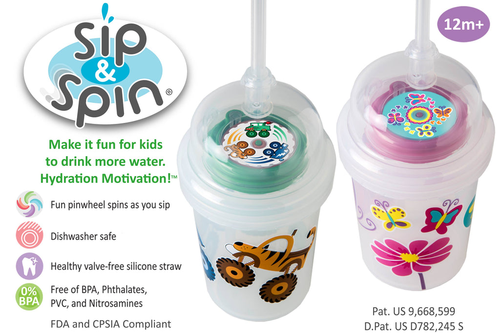 Zoomi Sip & Spin Straw Sippy Cup