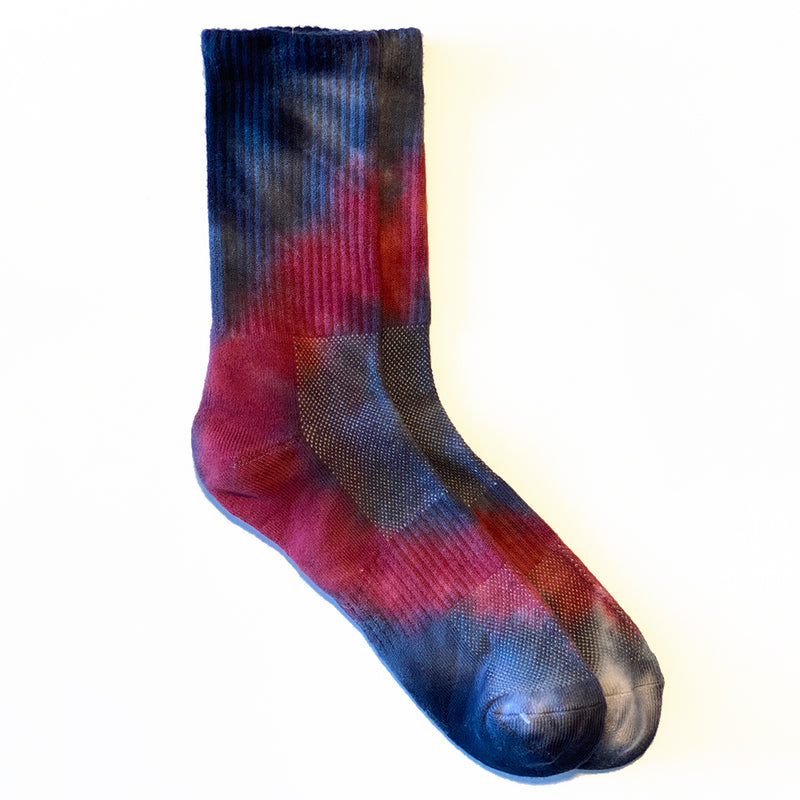 TIE DYE <br> NVY/RZB <br> HI-ANKLE ATHLETIC