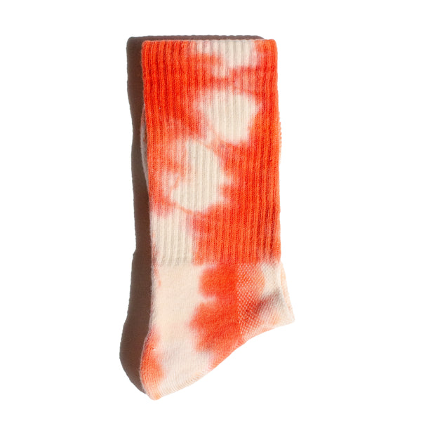 TIE DYE <br> ORANGE/WHITE <br> HI-ANKLE ATHLETIC